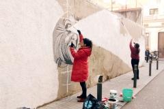 El mural comença a prendre forma.