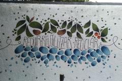 Part del mural a Manrique de Lara.