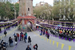 Panoràmica de la Festa de Primavera de la Vila de Gràcia.