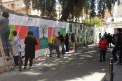 Nova acció artística al mur.