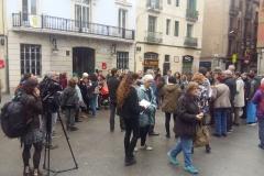 Concentració a la plaça de la Vila, dilluns 12 de novembre.