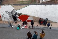 El mural avança a bon ritme.