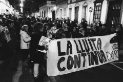 Inici de la mani del 14 de febrer, en protesta pel desallotjament del matí.