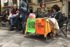 Paradeta a la Festa de Primavera de la Vila de Gràcia.
