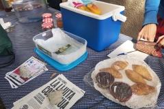 Tast de productes a la festa de la primavera del 31 de març.
