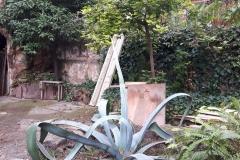 El jardí de la segona caseta.