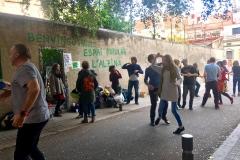 Swing de dissabte al migdia al carrer Manrique de Lara.